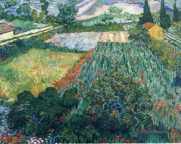 Field with Poppies 2 Vincent van Gogh scenery Oil Paintings
